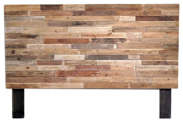 Kase Custom - Reclaimed Wood Natural Twin Headboard, King - Headboards - King Size Reclaimed Wood Headboards Houzz