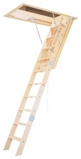 Werner 10&x27; Wooden Attic Ladder.