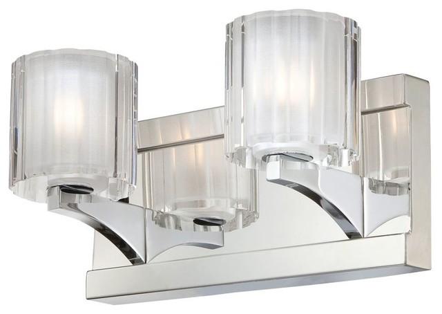 Contemporary Chrome Vanity Lights : Tiara 2-Light Bathroom Vanity Fixture, Chrome - Contemporary - Bathroom Vanity Lighting - by ...