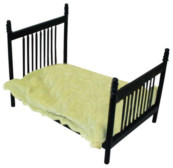Antique Style Black Iron Dog Pet Bed, Metal Slat Frame Traditional Dog   Dr Livingstone I Presume Furniture
