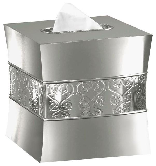 Mercury Glass Boutique Tissue Box Cover Contemporary