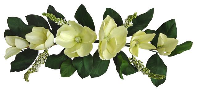 32 Faux Cream Magnolia Swag.