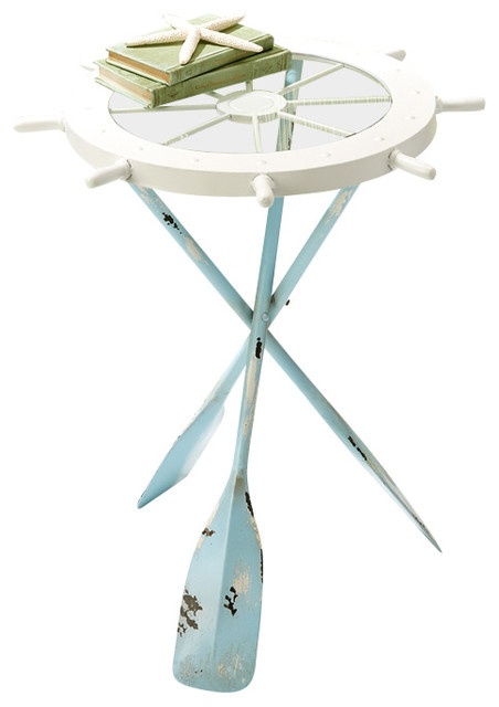 Twou0027s Company Ships Ahoy Accent Table Beach Style Side Tables And