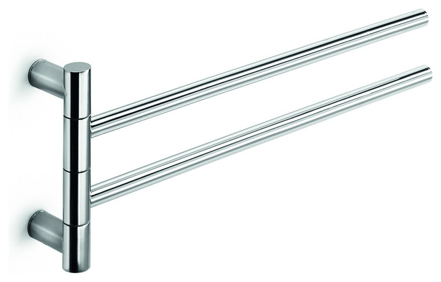 Lb Picola Double Swing Out Towel Bar With 2 Folding Arms Chrome