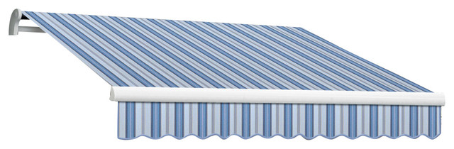 16&x27; Maui-Lx Manual Retractable Awning, Blue Multi.