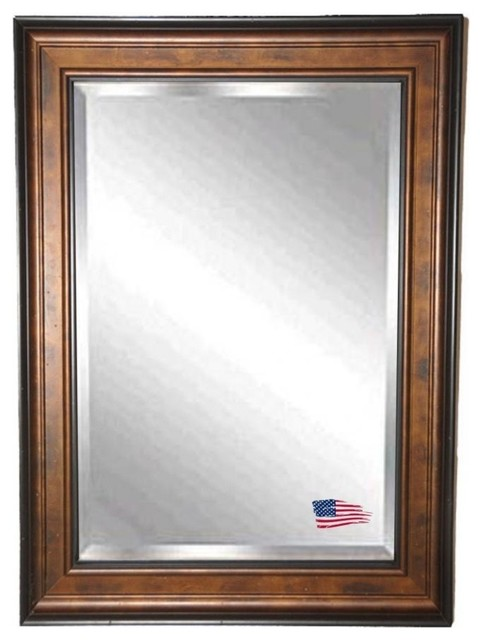 Rayne Mirrors Bronze And Black Wall Mirror 32.75x38.75.