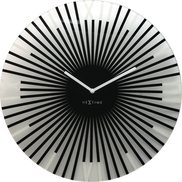 Sticks Round Wall Clock, Black