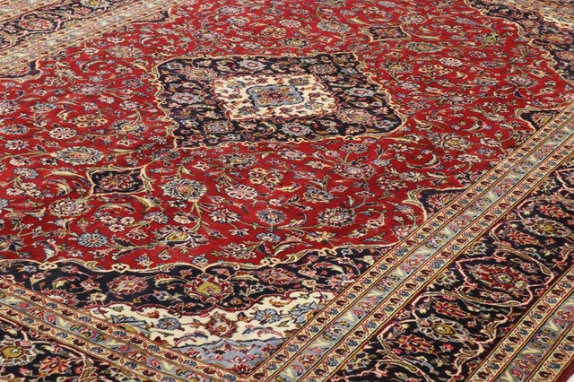 Kashan Rug Persian Rug 12 8 X9 5 Hand Knotted Classic Traditional Area Rugs By Nain Trading Llc