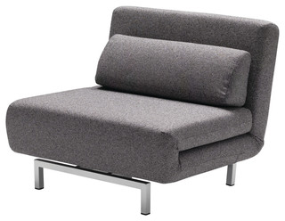 Mobital USA Inc.   Iso Chair/Bed, Charcoal Tweed   Indoor Chaise Lounge