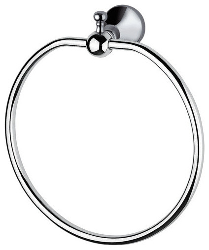 Ba Regency Wall Round Towel Ring Holder Bath Hand Brass