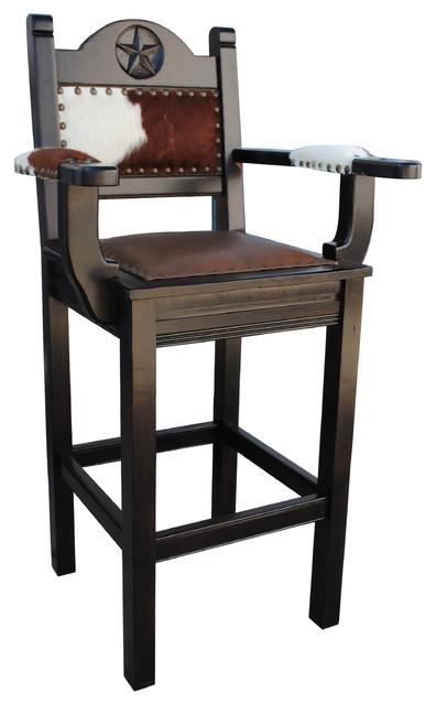 Texas Western Bar Stool Arms Counter Height southwestern bar stools