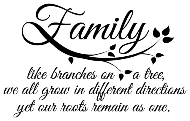 Family Roots Wall Quotes Decal Contemporary Wall