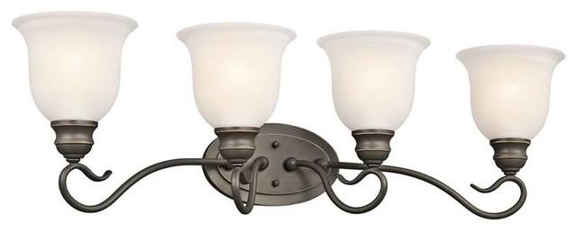 Shop Kichler Lighting 4 Light Bayley Olde Bronze Bathroom: Tanglewood Bath 4-Light