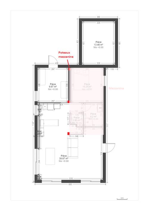 Idée d\'aménagement d\'une maison (intégrer une chambre parentale)
