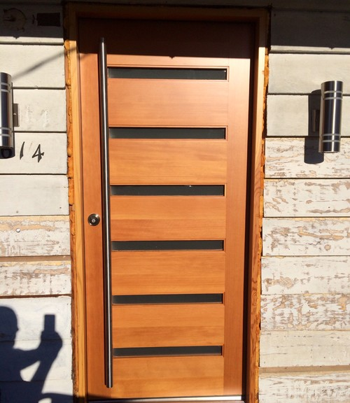 ... Frank The Door Store. With Its Mid Century Look And 72 Inch Stainless  Steel Door Pull. Door Is Fir With 4 Coats Of Clear Varnish.
