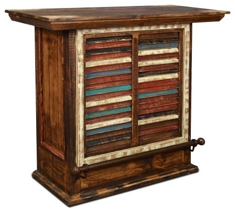 Reclaimed Wood Bar Cabinet  WB Designs