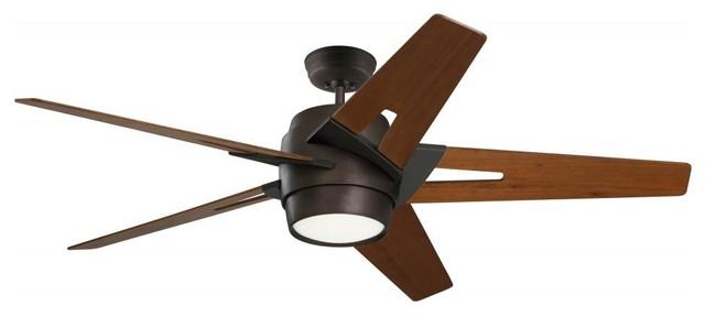 Two Light Oil Rubbed Bronze Ceiling Fan.