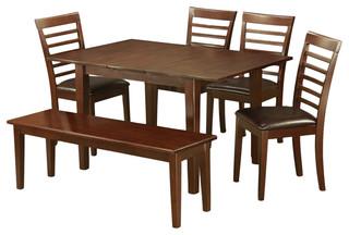 Mila6D-Mah-Lc, Milan Dining Set