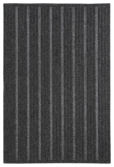 Mohawk Home Impressions Mat Ribbed Charcoal, 2&x27;x3&x27;.