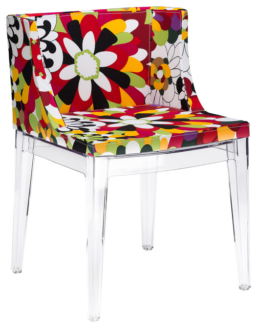 Poly And Bark Flower Dining Side Chair.