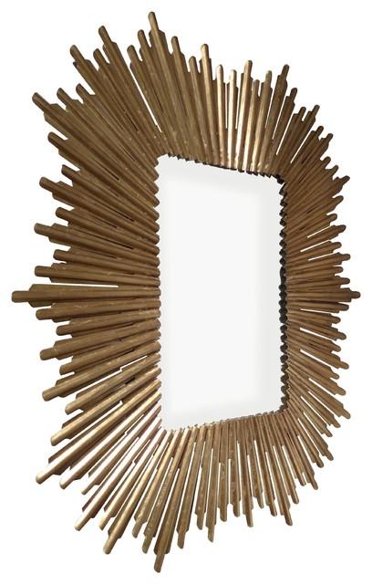 Hockcliffe Sunburst Mirror, Antique Gold.