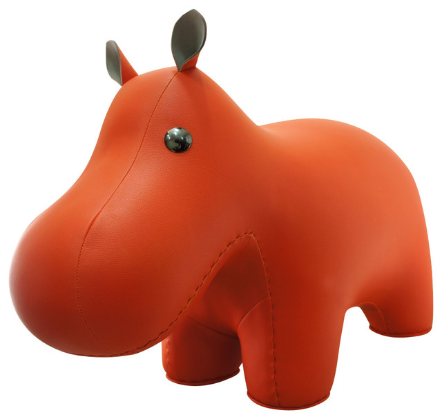 Hippo Stool, Orange