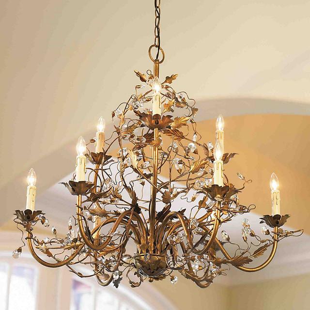 Ballard Designs Chandelier 9-arm grande claire chandelier - etruscan gold - traditional