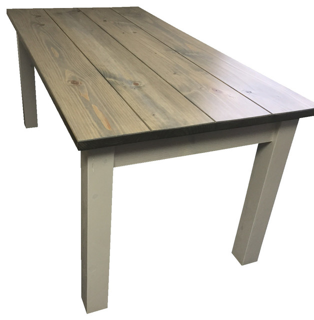 Drifwood Gray Harvest Table Beach Style Dining Tables By
