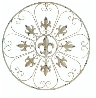 Circular Fleur De Lis Wall Decor.