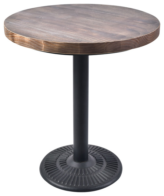 Lincoln Vintage 28 Quot Round Bistro Table With Weathered Gray