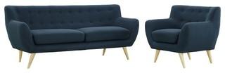 Remark 2-Piece Living Room Set, Azure