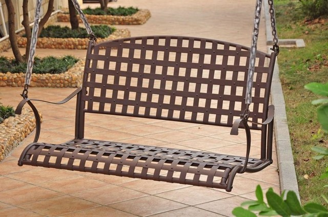 diy metal porch swing frame iron hanging antique brown contemporary swings replacement parts