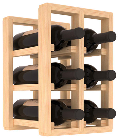 Wine Racks America 6 Bottle Counter Top Pantry Rack Pine Contemporary By