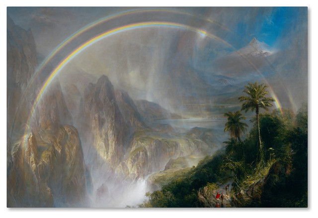 Rainy season in the tropics by Frederick Edwin Church Giclee Repro on Canvas