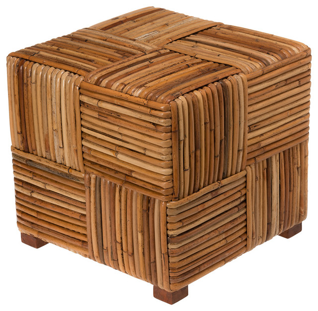 Merveilleux Bound Rattan Stool U0026 Side Table