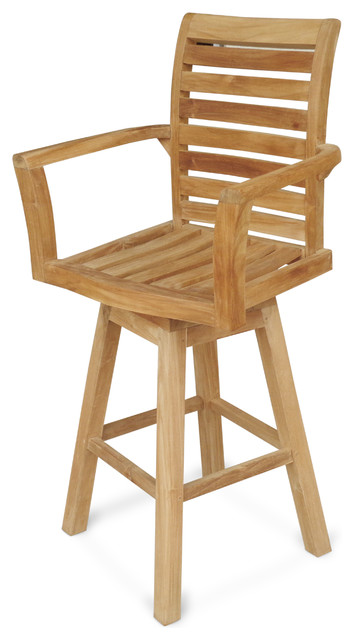 Wondrous The St Moritz Grade A Teak Swivel Bar Chair Unemploymentrelief Wooden Chair Designs For Living Room Unemploymentrelieforg