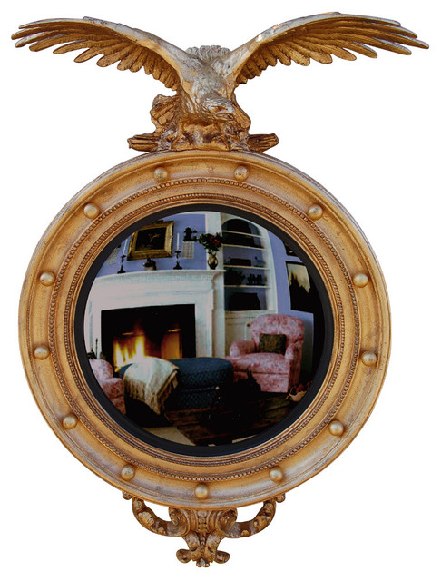 Convex Wall Mirror carved eagle convex mirror, baroque - traditional - wall mirrors