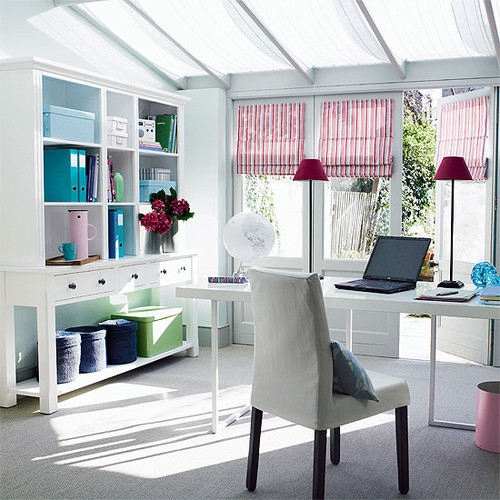 white office modern home office
