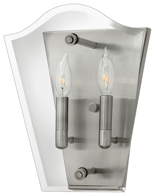 Wingate Polished Antique Nickel Wall Light
