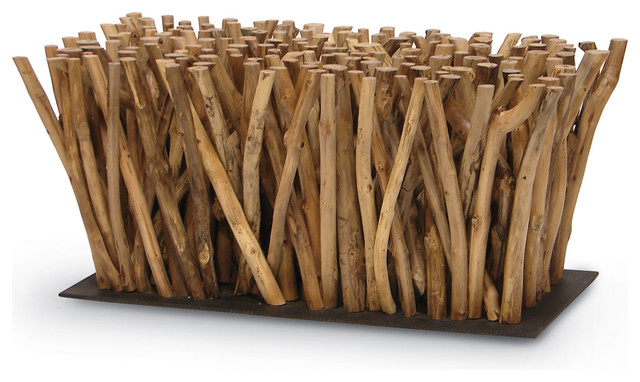 Palecek Driftwood Stick Coffee Table, Base Only Beach Style Coffee Tables