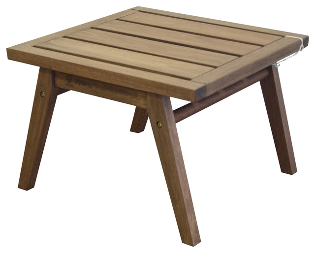 Timbo Mestra Hardwood Outdoor Patio Side Table Brown