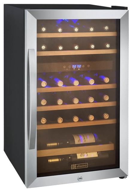 Allavino 29 Bottles Cascina Dual Zone Wine Cooler.