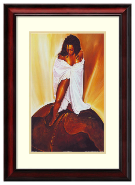"Framed Art Print &x27;power Of Woman&x27; By Wak-Kevin A. Williams Outer Size 20x26""."