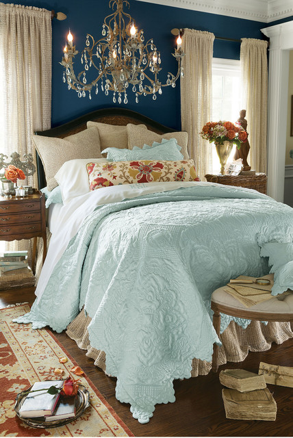 Spa Blue Chantelle Quilt Mediterranean Quilts And