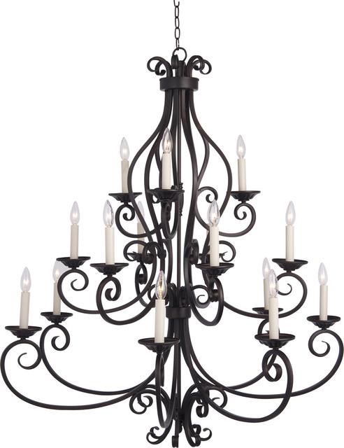 Manor 15-Light Chandelier, Oil Rubbed Bronze