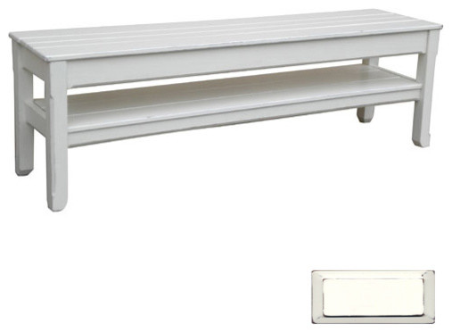 Coastal Plank Console or Bench - Beach Style - Accent And Storage ...