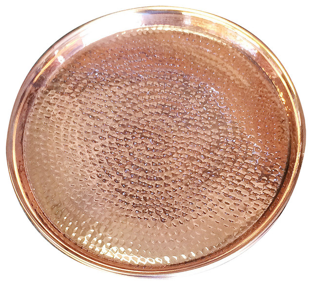 Hammered Copper Tray Rustic Serving Trays by  : rustic serving trays from www.houzz.com size 640 x 584 jpeg 198kB