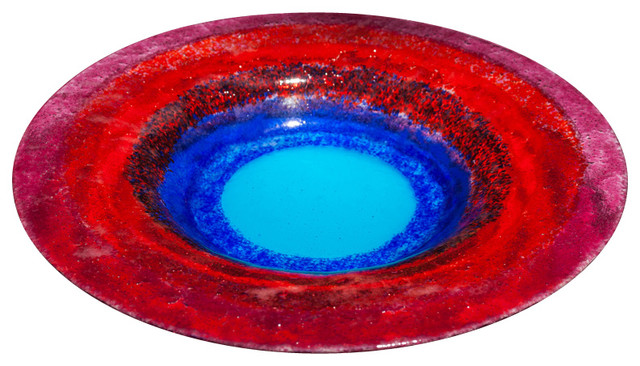 blue moon glass bowl modern decorative bowls - Decorative Glass Bowls