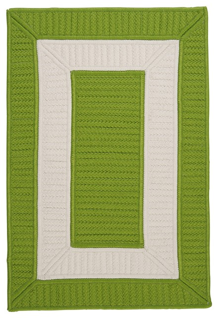 Colonial Mills Rope Walk Cb91 Bright Green Green Area Rug