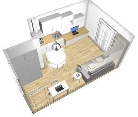 Consiglio disposizione mobili cucina for Disposizione mobili soggiorno